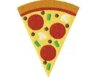 Pizza Slice Machine Embroidery Design // Joyful Stitches