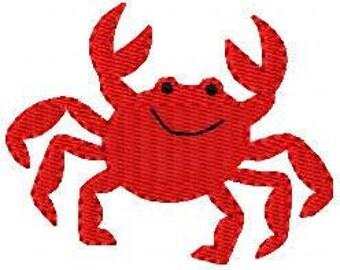Crab Machine Embroidery Design // Joyful Stitches