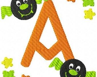 Bat // Fall // Halloween // Monogram Embroidery Font Design Set // Embroidery Deisgns // Joyful Stitches