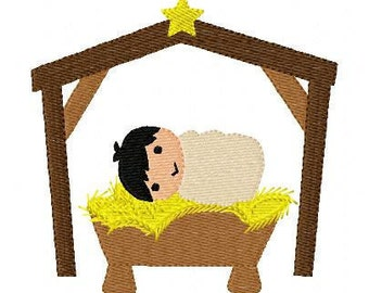Happy Birthday // Jesus // Nativity // Christmas // Machine Embroidery Design // Joyful Stitches