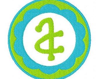 Spring Monogram Machine Embroidery Circle Design Set, Machine Embroidery Designs, Embroidery Font // Joyful Stitches