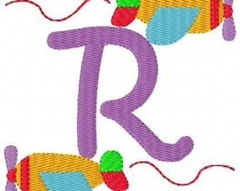 Plane //Airplane // Machine Embroidery Monogram Font Set, machine embroidery designs, plane embroidery designs // Joyful Stitches