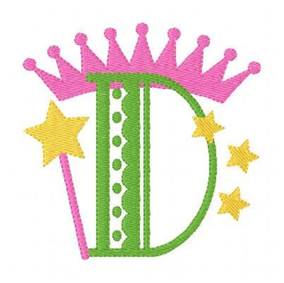 Dainty Princess Monogram Embroidery Font Design Set // Joyful Stitches