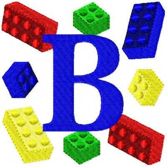 Interlocking Blocks Machine Embroidery Monogram Design Set // Joyful Stitches