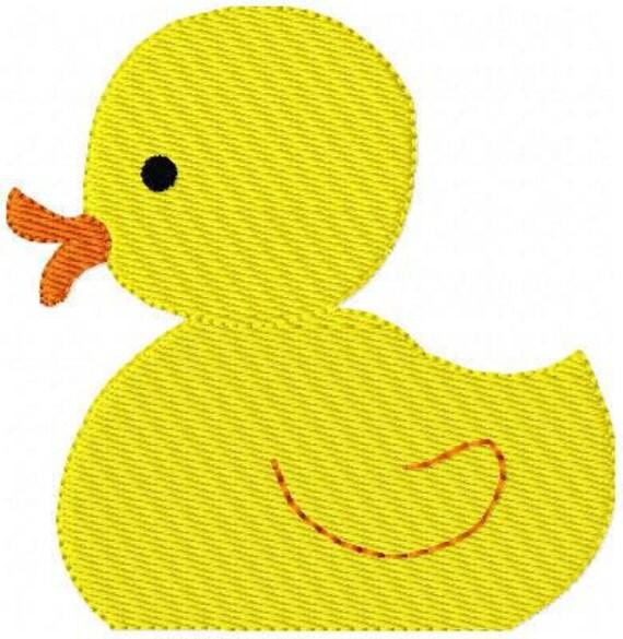 Duck Duckie Machine Embroidery Design // Joyful Stitches