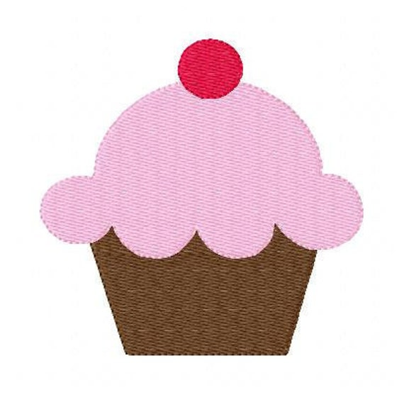 Yummy Cupcake Machine Embroidery Design // Joyful Stitches