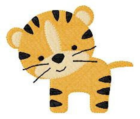 Tiger Machine Embroidery Design, Little Tiger Embroidery // Joyful Stitches