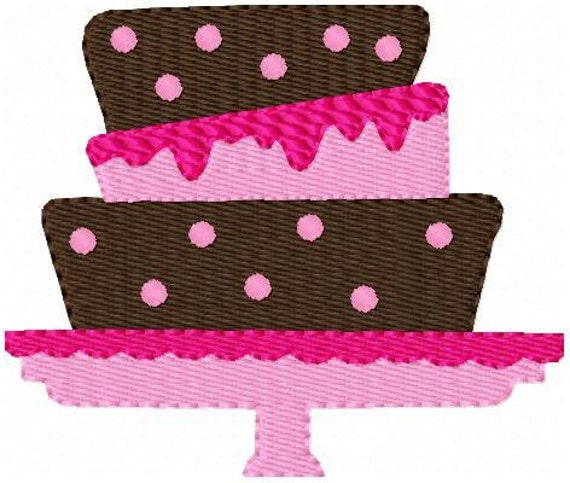 Topsy Cake Machine Embroidery Design // Joyful Stitches