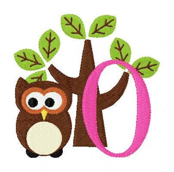 Woodland Owl Monogram Machine Embroidery Designs Set // Joyful Stitches