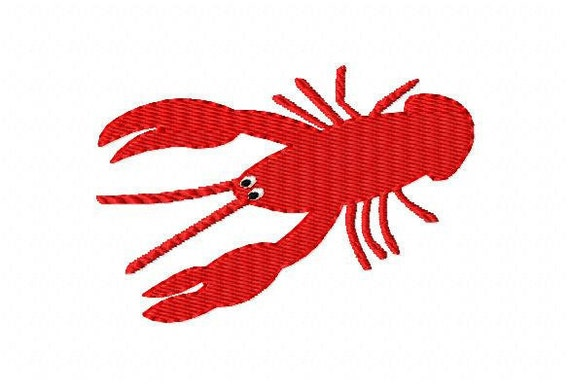Crawfish Machine Embroidery Design // Joyful Stitches