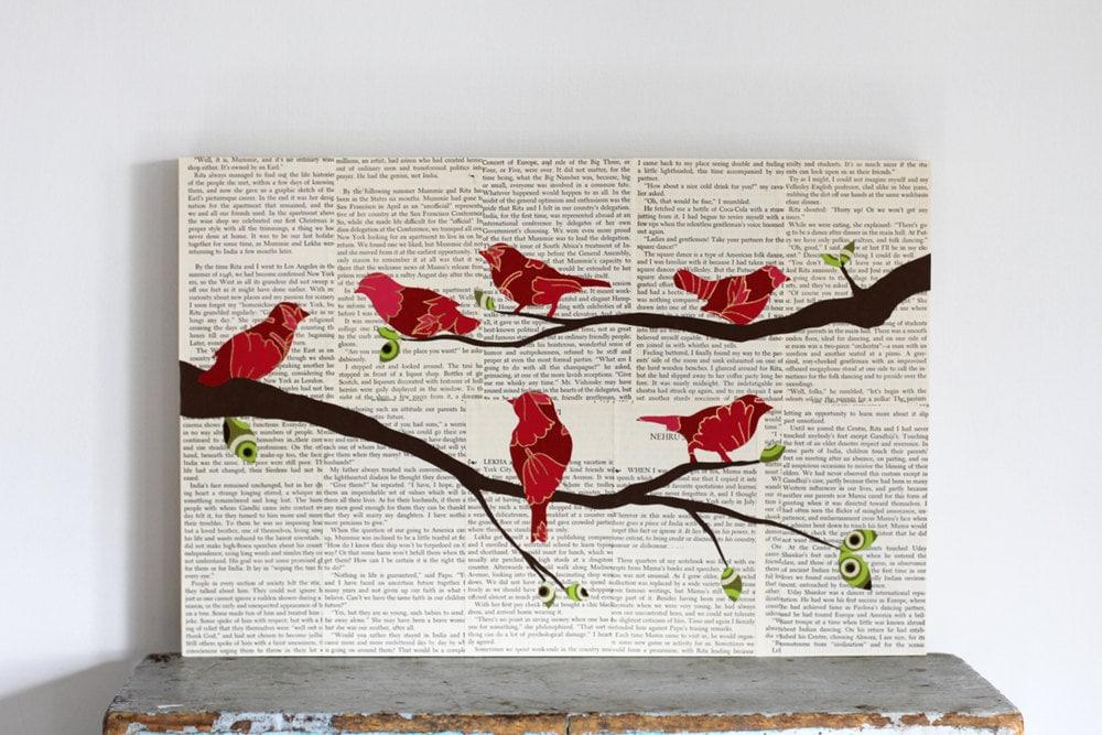Popular items for birds wall art on Etsy