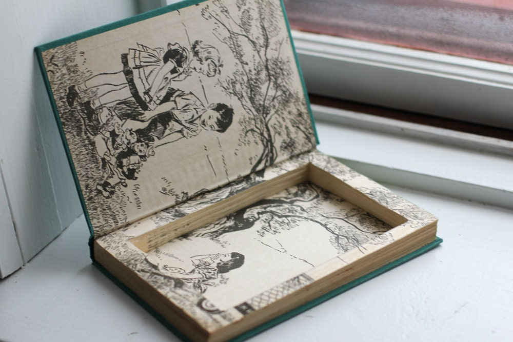 How To Make A Book Box ~ Hollow book jewelry box secret compartment safe