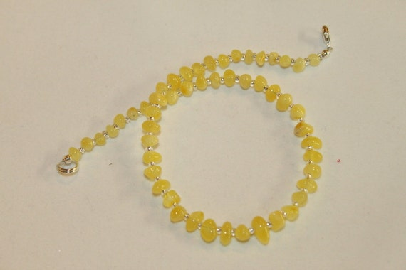 "Baltic Amber 11""  Teething Necklace with Sterling Silver Clasp and ""SAFETY RING"""