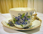 Vintage Tea Cup Candle reserved for GewundadFeorh