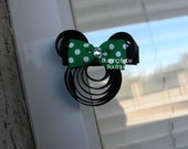 1.5 inch Mouse Clip-Your Choice of Bow Color-Perfect for Disneyland-