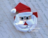Santa Claus Hair Clip- Attached to Partially lined Alligator Clip-