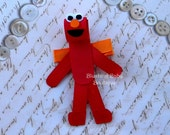 Inspired by Elmo Hair Clip-- Perfect Gift for Birthdays and Baby Showers