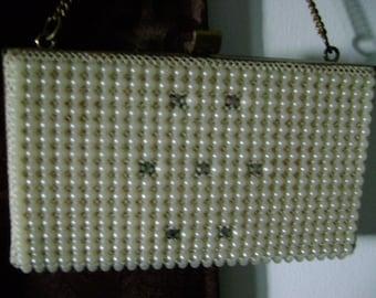 Vintage Bead and Crystal Box Purse