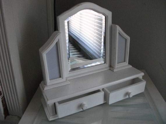 Vanity Mirror With Lights And Drawers : Vanity Mirror with drawers by RobinsTreasures on Etsy