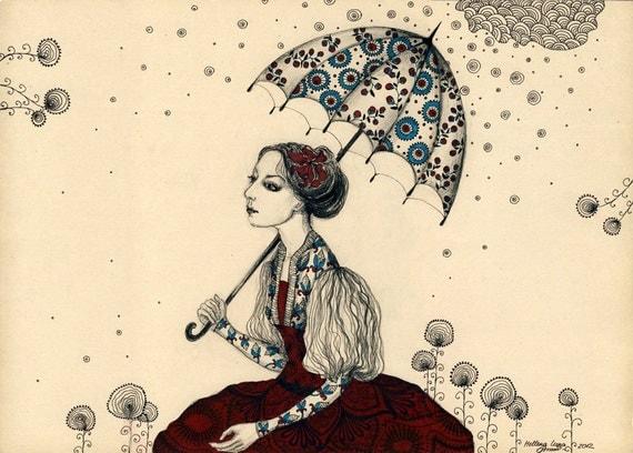 The Rain - Original Drawing