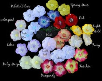 Dainty 2 inch Sequin Flowers x 4