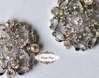 Rhinestone Brooch  - Flatback Rhinestone Embellishment - Brooch Bouquet  Wedding Embellishment - DIY Wedding Supplies RD150