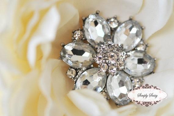 3 pcs RD123 Rhinestone Metal Flatback Embellishment Button Brooch Bridal accessories invitations crystal bouquet flowers hair clip comb