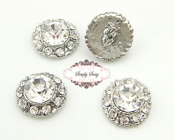 SALE 20pcs RD135 Metal rhinestone crystal embellishment flatback buttons Perfect for wedding invitations favors flowers