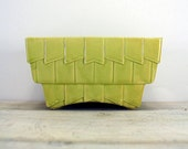 Vintage California Pottery Lime Green Planter.