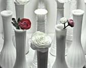 Milk Glass Bud Vases Set of 15