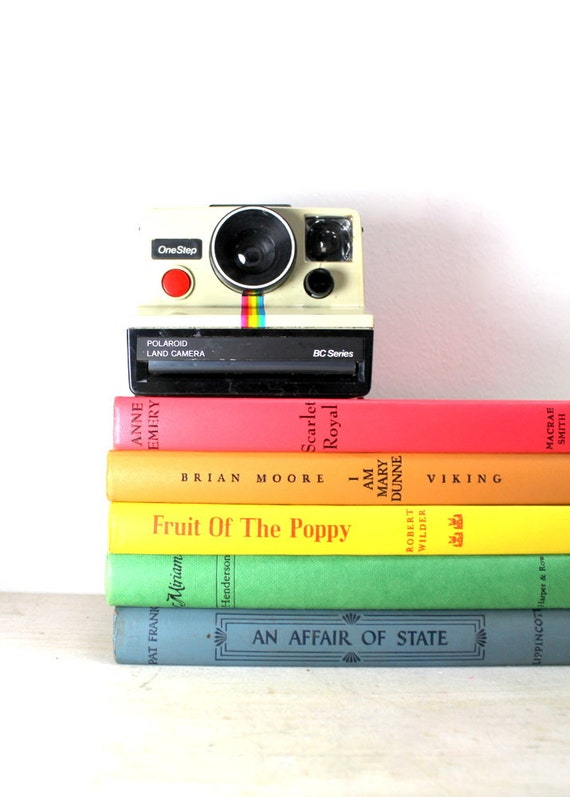 Instant Collection Vintage Book Bundle Rainbow Colors