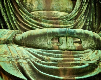 Spiritual Photography, Wall Art, Japanese Decor, Peaceful, Buddha Hands, Green, Enlightenment, Zen, Japan, Fine Art Travel Photography