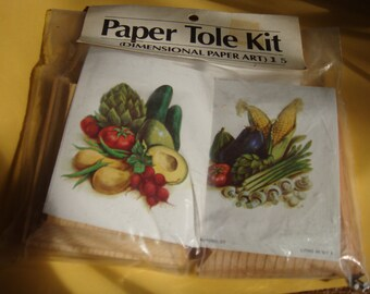 Paper Tole Kit Dimensional Paper Art Veggies Houston Art and Frame
