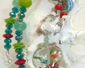 Lampwork Necklace LAZY DAYS