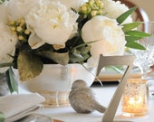 Metallic Wedding Table Numbers for Weddings in Pewter, Silver, Gold or Other Colors