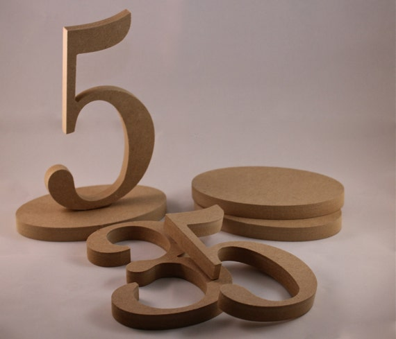Unique Table Numbers For Wedding Reception Ideas: 1-25 DIY Wooden Wedding Table Numbers Do-It-Yourself Kit