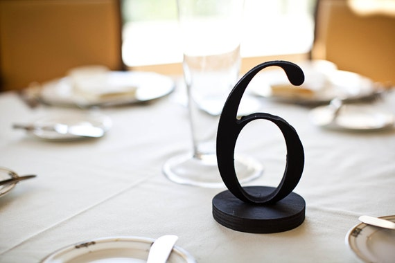 Stylish Table Numbers- Wooden Numbers in Custom Colors for Weddings & Events