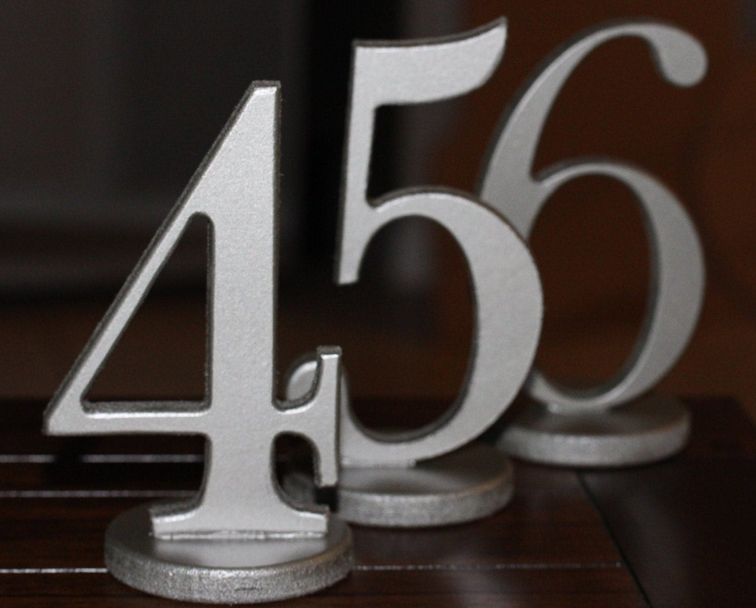 Table numbers for wedding or party decor wooden numbers in for Table numbers