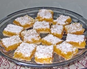 Handwritten Lucious Lemon Bar Recipe... in a letter in the Mail