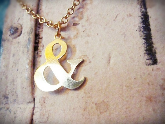 ampersand. a quirky little gold charm necklace