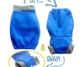 Soaker Cocoon, PDF Sewing Pattern. It's a Cloth Diaper Cover and a Sleep Gown, all in one
