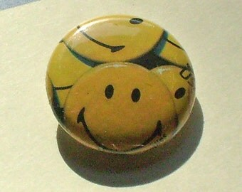 Smiley Face That 70s Stamp 1 inch Button US Postage Stamps