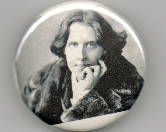 Oscar Wilde Playwright Portrait 1.25 inch Button