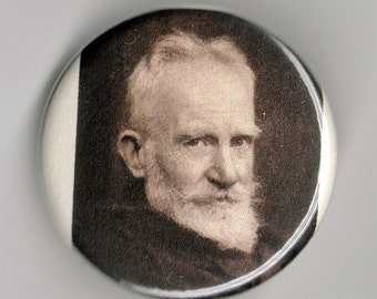 George Bernard Shaw Playwright Portrait 1.25 inch Button