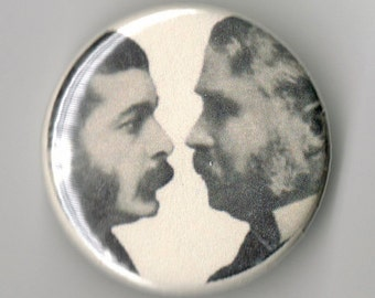 Gilbert and Sullivan Playwright Portrait 1.25 inch Button