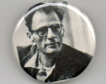 Arthur Miller Playwright Portrait 1.25 inch Button