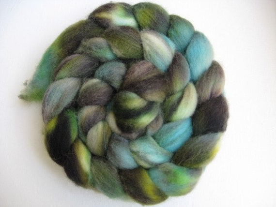 Reserved for Heather Salt Marsh Falkland  Wool Roving Top 4oz.