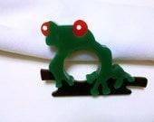 One Tree Frog Laser Cut Acrylic Napkin Ring - Stacked Lucite Napkin Holder
