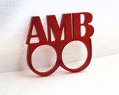 Custom Double Ring Brass Knuckle Duster - 3 Letters - Personalized Laser Cut Acrylic - Your Style - Your Color