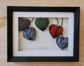 Stuffed Felt Mended Hearts made by Keep Up the Imagination
